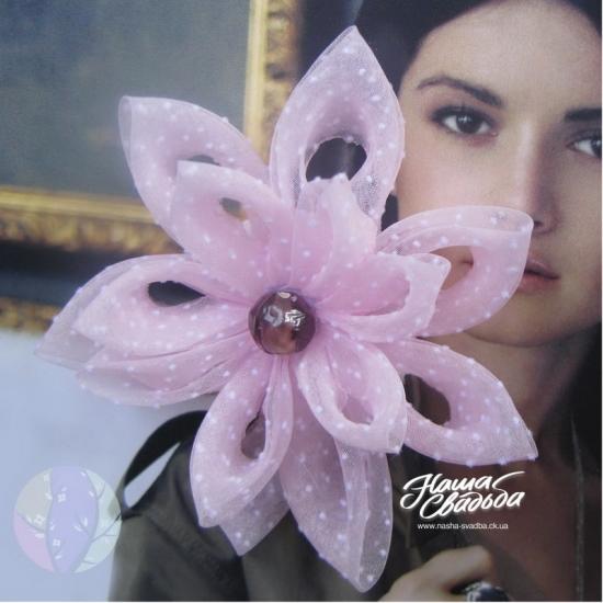 Цветы из ткани 15