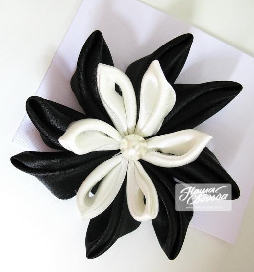 Цветы из ткани 05