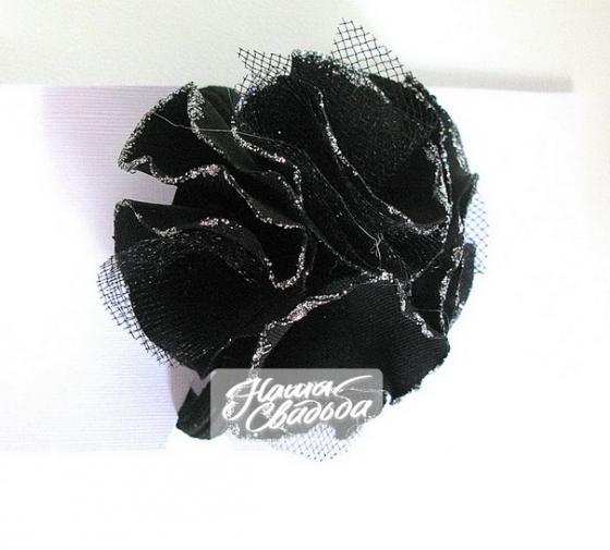 Цветы из ткани 08